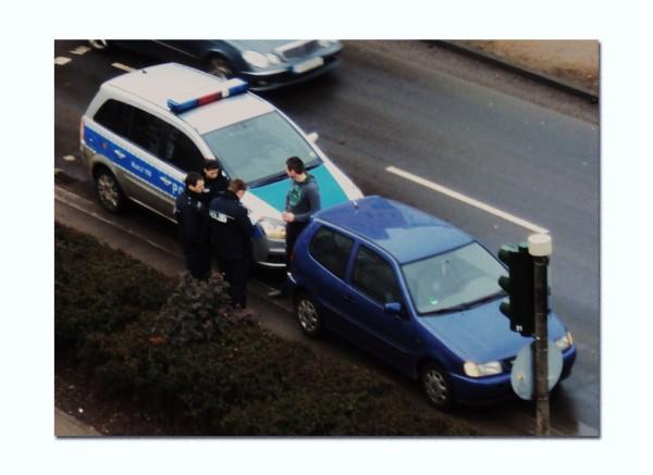 Polizeikontrolle während der Detektei-Observationsmaßnahme