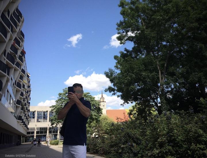 Detektiv observiert in Magdeburg