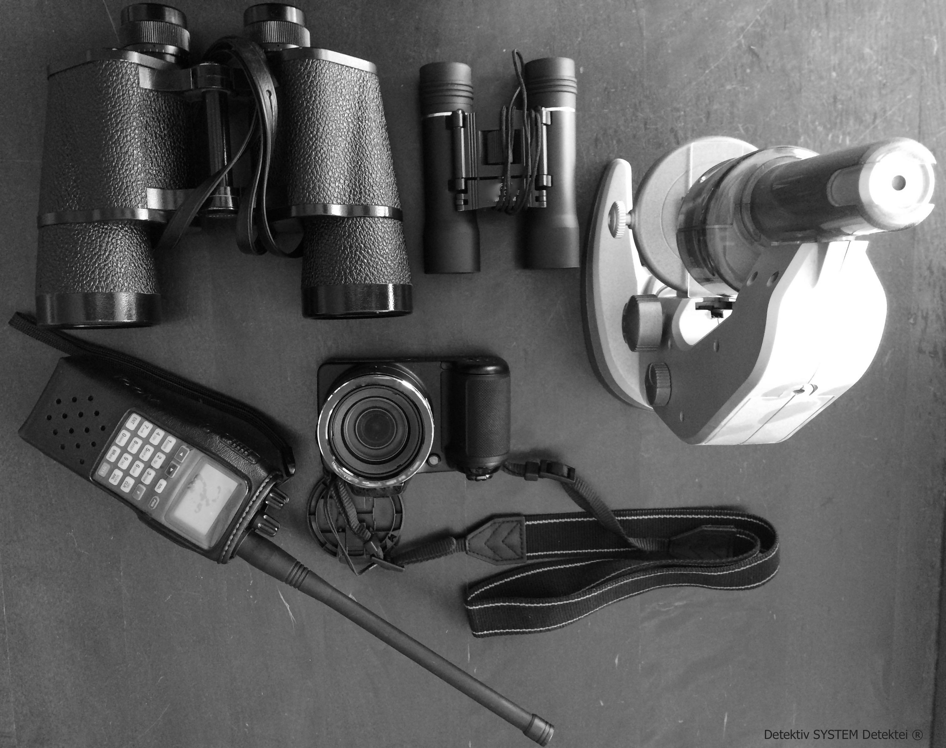 Equipment der Detektiv SYSTEM Detektei ® für den Einsatz in Ehingen (Donau)