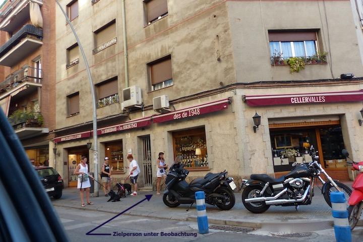 Detektiv in Barcelona in der Beobachtung