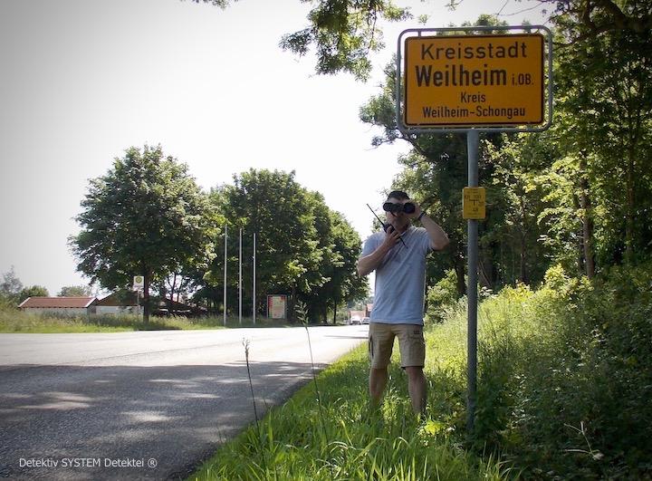 Privatdetektiv in Weilheim in Oberbayern einsetzen