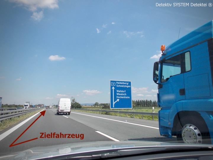 Detektiv SYSTEM Detektei ® beobachtet im Raum Walldorf Baden