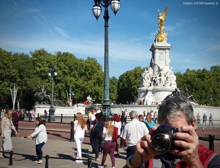 DSD Privatdetektiv beobachtet Zielperson im Raum London