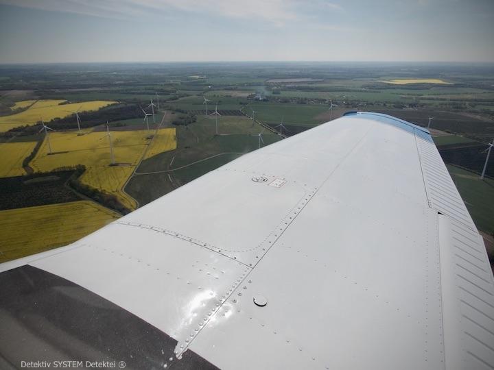 Aufklärungsflug der Detektive über Mecklenburg-Vorpommern