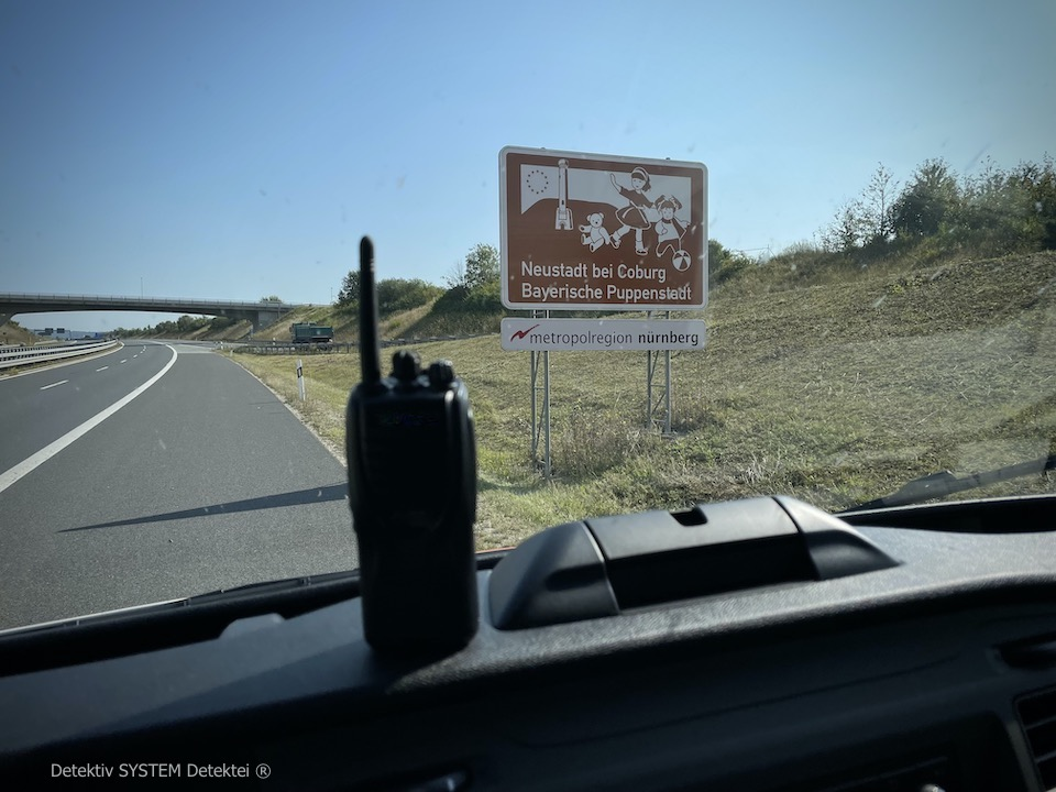 Beobachtungsposition Neustadt bei Coburg Detektei Einsatz